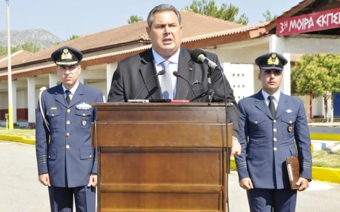 O Καμμένος δεν υποχωρεί – Ούτε ένα ευρώ μείωση στις Ένοπλες Δυνάμεις