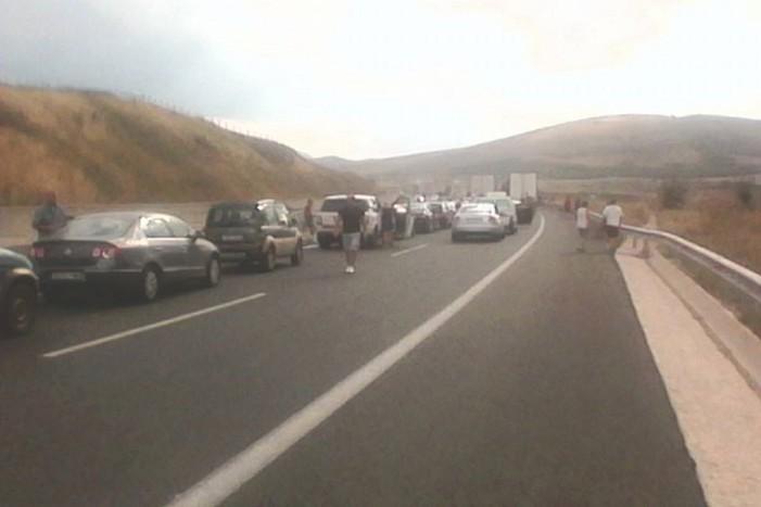 Τροχαίο ατύχημα πριν λίγο στην Εγνατία οδό.