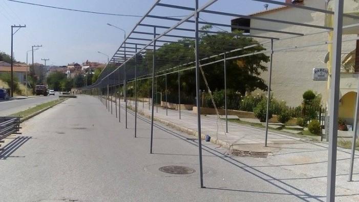 Εμποροπανήγυρη Άργους Ορεστικού: Νέες μεταλλικές κατασκευές(φωτογραφίες)