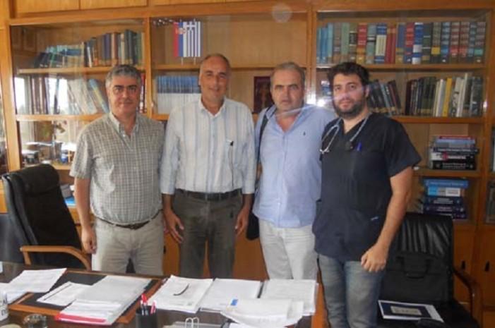 Καστοριά: Συνάντηση του Αντιδημάρχου Δ. Πετρόπουλου με τη διοίκηση της παθολογικής κλινικής του ΑΧΕΠΑ
