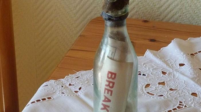 Bρέθηκε το παλαιότερο μήνυμα σε μπουκάλι στον κόσμο ηλικίας 108 ετών