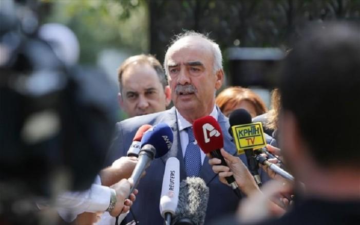 Μεϊμαράκης: Παραδίδω την μεταβατική προεδρία της ΝΔ στον Γ. Πλακιωτάκη