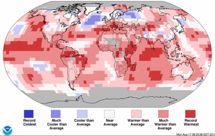 Ο φετινός Ιούλιος, θερμότερος μήνας στην Ιστορία της Γης