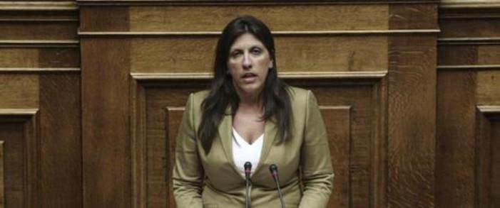 Κωνσταντοπούλου: Η κυβέρνηση παραιτήθηκε στα μουλωχτά. Ενημέρωσαν τους εκβιαστές δανειστές αλλά όχι τη Βουλή