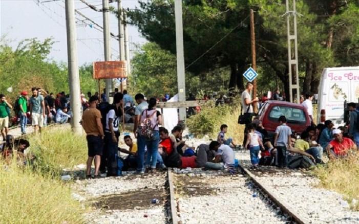 Βάζουν συρματοπλέγματα στις γραμμές του ΟΣΕ στην Ειδομένη
