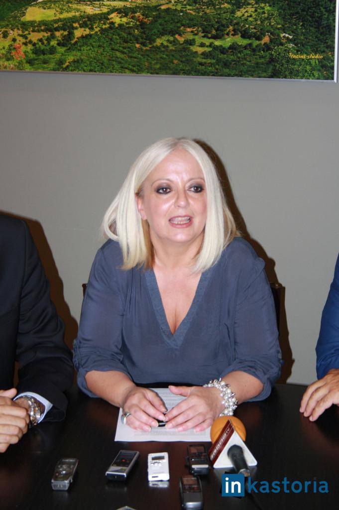 Η συντονίστρια του προεκλογικού αγώνα Θωμαή Σιμώτα.