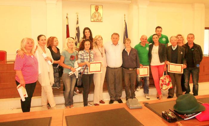 Βράβευση των εθελοντών Καστοριάς