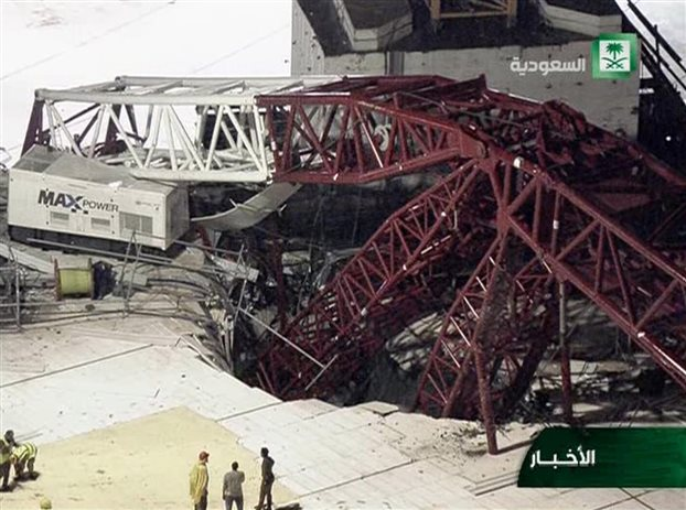 Μέκκα: 107 νεκροί, 240 τραυματίες από πτώση γερανού στο Μεγάλο Τέμενος (upd)