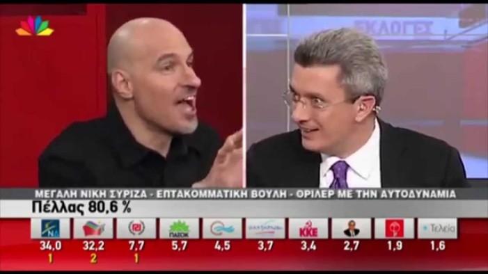 Έξαλος ο Χατζηνικολάου με τα ρολόγια των καναλιών (Video)