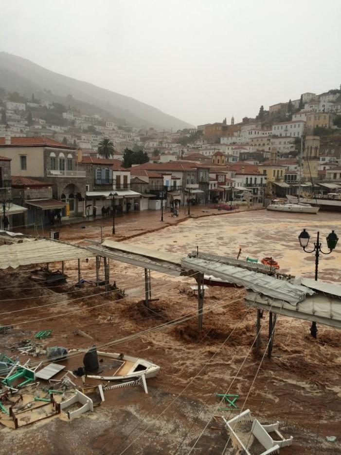 Μετά την Αθήνα πνίγηκε και η Ύδρα!!! (φωτό + βίντεο)