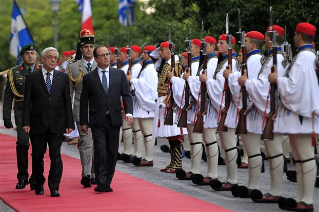 Συνάντηση του Προέδρου της Δημοκρατίας με τον Ολάντ