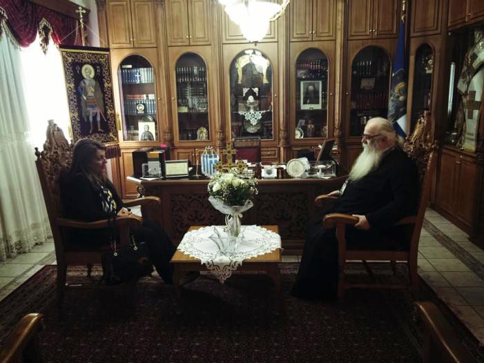 Επίσκεψη της Μ. Αντωνίου στον Μητροπολίτη Καστοριάς