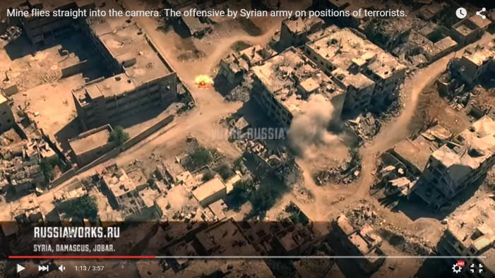 Το τρομακτικό πρόσωπο του πολέμου στη Συρία: Βίντεο από drone με μάχες στα ερείπια