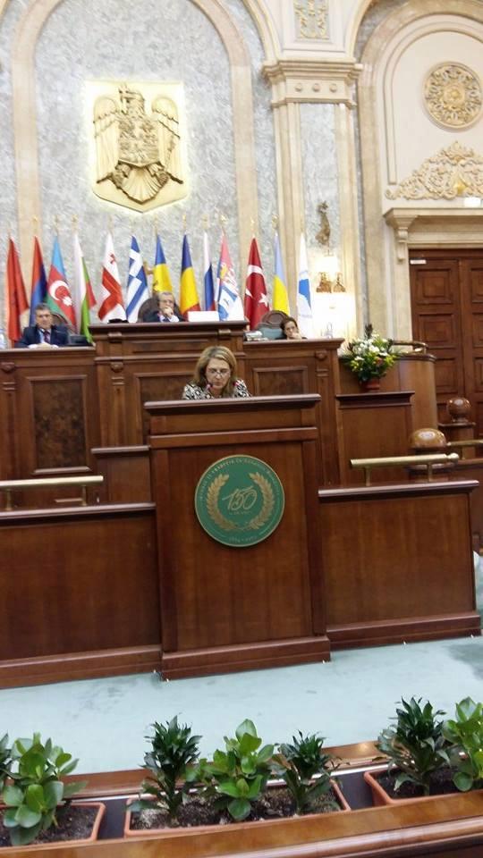 Η Ολυμπία Τελιγιορίδου στη Διακοινοβουλευτική Συνέλευση των Παρευξείνιων Χωρών