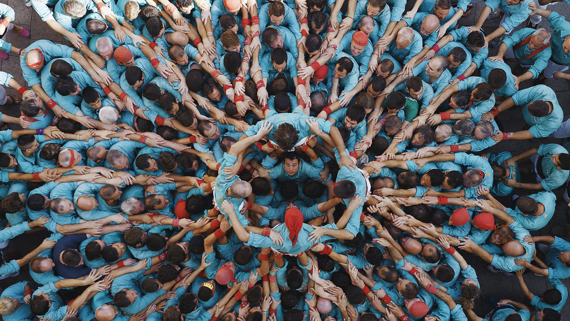 Ανθρώπινος πύργος, Καταλονία, Ισπανία