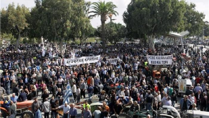 Ένταση και χημικά στο πανελλαδικό αγροτικό συλλαλητήριο στο Σύνταγμα