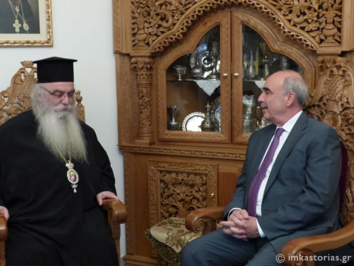 Ο Πρόεδρος της Νέας Δημοκρατίας Ευάγγελος Μεϊμαράκης στον Μητροπολίτη Καστορίας (ΦΩΤΟ)