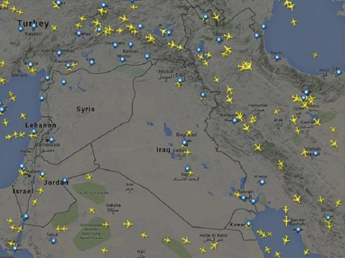 Δείτε πώς οι πόλεμοι επηρεάζουν τις αεροπορικές συγκοινωνίες(φώτο)