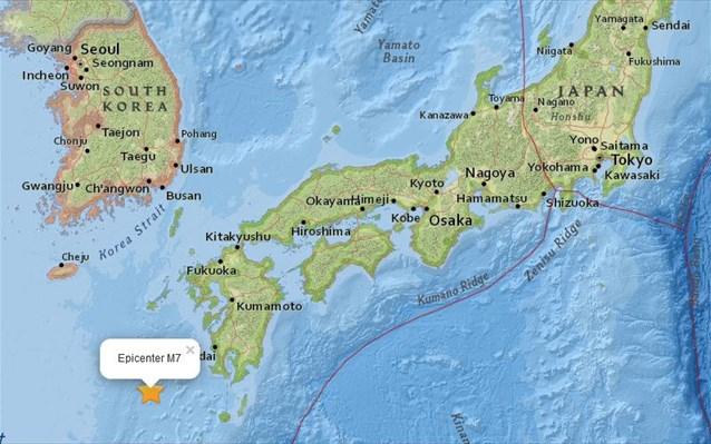 Ισχυρός σεισμός 7 Ρίχτερ στην Ιαπωνία
