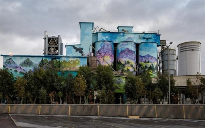 Ζωντάνεψε ξανά η βιομηχανία ΤΙΤΑΝ στη Θεσσαλονίκη -Δείτε το πανέμορφο γκράφιτι (φωτο)