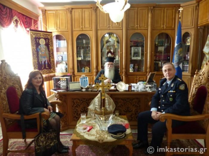 Ο Διευθυντής της Αστυνομίας Καστοριάς στον Σεβασμιώτατο