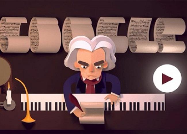 Η Google τιμά τα 245 χρόνια από τη βάπτιση του Λ. Β. Μπετόβεν