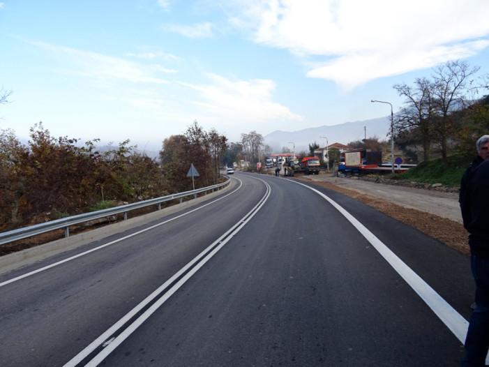 Ολοκληρώθηκε το έργο βελτίωσης-διαπλάτυνσης  της οδού Κοζάνης-Σερβίων (βίντεο,φωτό)