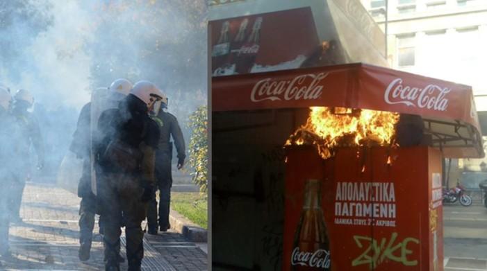 Φωτιές και ένταση στην πρώτη πορεία για τα επτά χρόνια από τη δολοφονία Γρηγορόπουλου