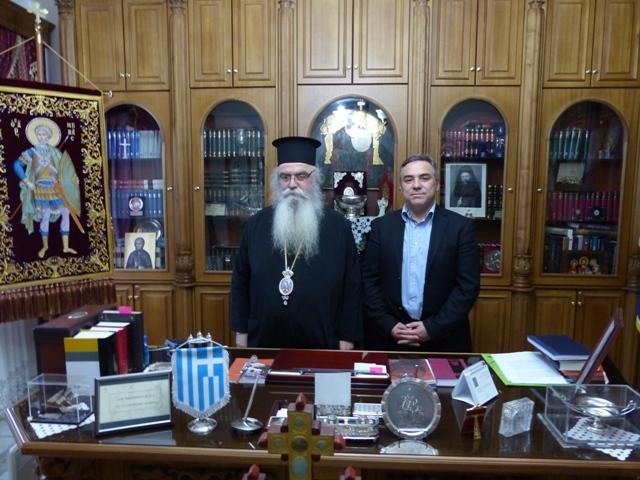 Επίσκεψη του Κ. Βαρσάμη στον Σεβασμιώτατο Μητροπολίτη Καστοριάς