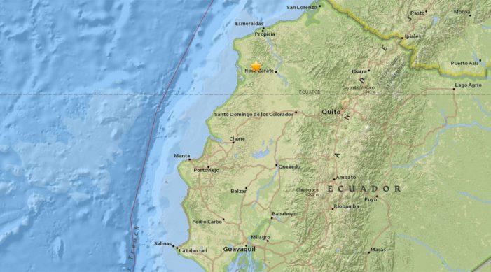 Σεισμός 6,7 Ρίχτερ στον Ισημερινό