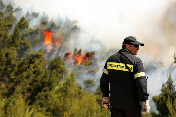 Σε ύφεση η πυρκαγιά στα Δερβενοχώρια (Photos)