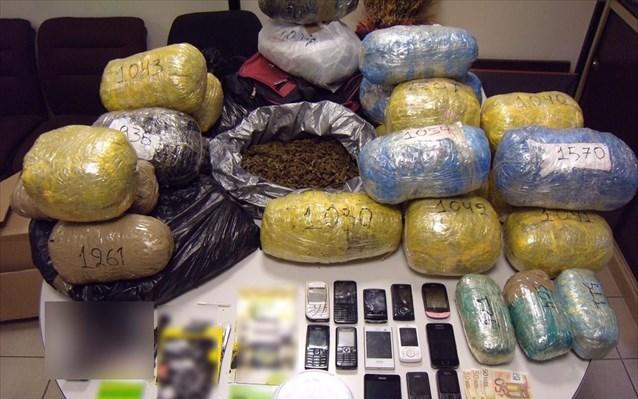 Δ. Μακεδονία: Συλλήψεις για συμμετοχή σε κύκλωμα διακίνησης ναρκωτικών – Βρέθηκαν 30 κιλά κάνναβης!