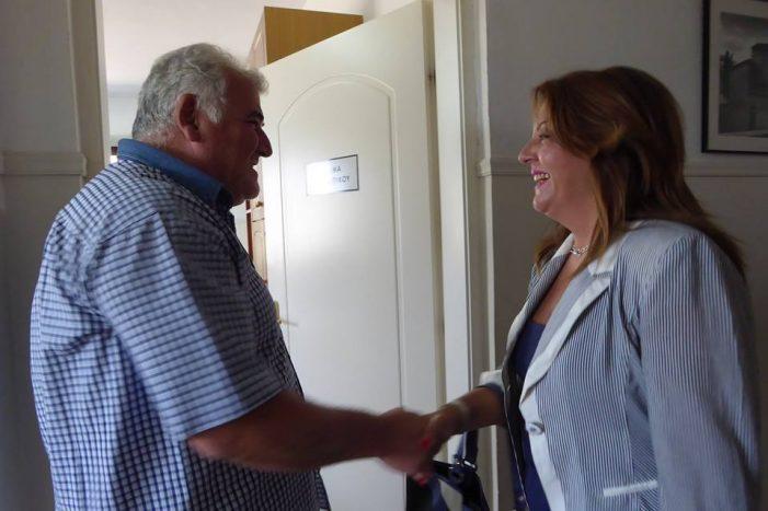 Συνάντηση Μ. Αντωνίου με τον διοικητή του νοσοκομείου Καστοριάς