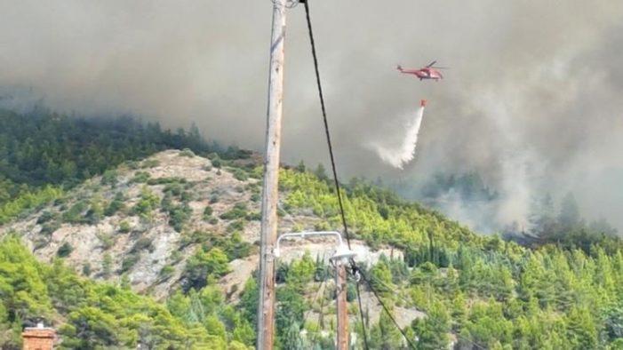 Κερδίζεται η μάχη με τις φλόγες στην Εύβοια – Υπό έλεγχο η μεγάλη πυρκαγιά στη Λίμνη