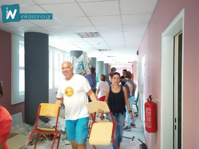 Ήρθαν τα θρανία του 10ου Δημοτικού Σχολείου Καστοριάς (Χλόη) – Φωτογραφίες