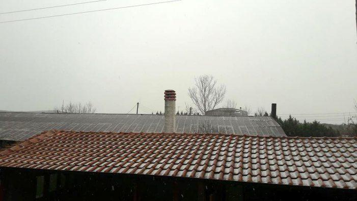 Ξεκίνησε να χιονίζει στο Άργος Ορεστικό Καστοριάς