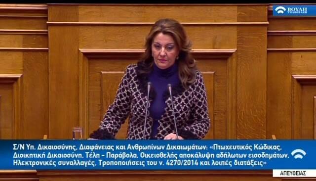 Στον κλάδο της Γουνοποιίας αναφέρθηκε η Μαρία Αντωνίου στην ομιλία της στη Βουλή (Video)