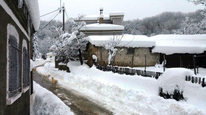 Σφοδρές χιονοπτώσεις έπληξαν τις τελευταίες ημέρες την κοινότητα Καστανοφύτου