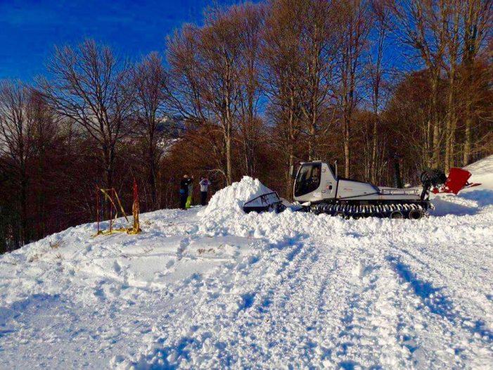 Ετοιμάζεται το Omixlh Snowpark στο Vitsi (φωτογραφίες)