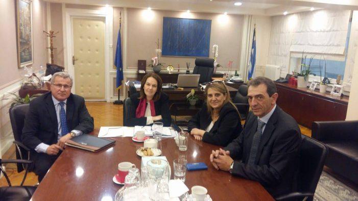Συνάντηση της Ολυμπίας Τελιγιορίδου με την Υφυπουργό Οικονομικών για θέματα γουνοποιίας