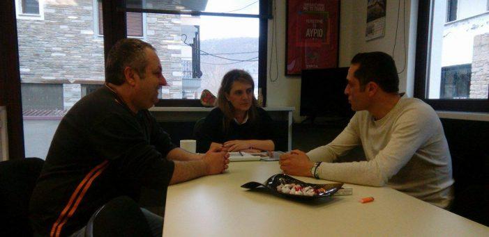 Συνάντηση της Ολυμπία Τελιγιορίδου με την Ένωση Στρατιωτικών Καστοριάς