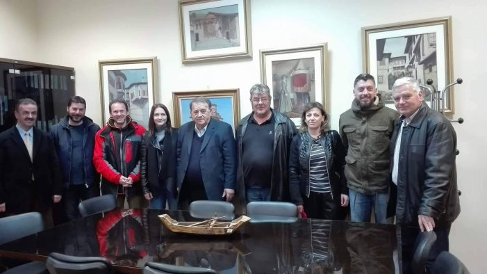 Συνάντηση του νέου Διοικητικού Συμβουλίου του Ναυτικού Ομίλου Καστοριάς με τον Δήμαρχο Καστοριάς