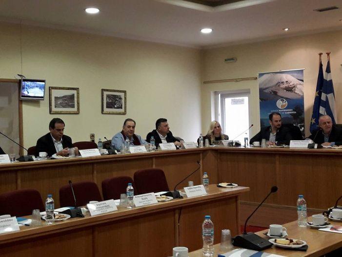 Ο Π. Κεπαπτσόγλου στη συνεδρίαση επιτροπής πολιτικής προστασιας ΚΕΔΕ