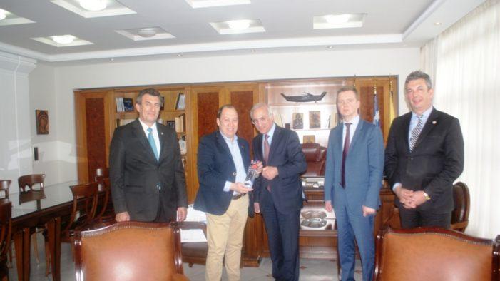 Συνάντηση του Αντιπεριφερειάρχης Καστοριάς  με το νέο Γενικό Πρόξενο της Ρωσίας