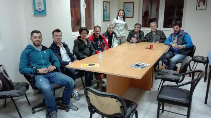 Συνάντηση μελών του Δ.Σ. του Ναυτικού Ομίλου Καστοριάς, με μέλη του Δ.Σ. των παλαιμάχων του Ναυτικού Ομίλου.