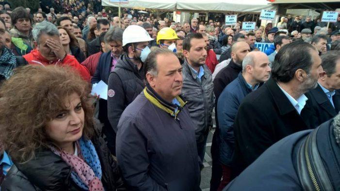 Αντιπροσωπεία του Δήμου Άργους Ορεστικού στο συλλαλητήριο ενάντια στο ξεπούλημα της ΔΕΗ