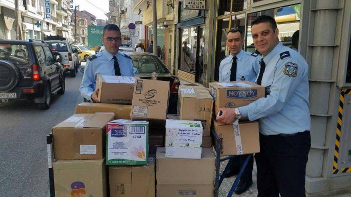 Συγκέντρωση ειδών πρώτης ανάγκης απά την Δ/νση Αστυνομίας Καστοριάς