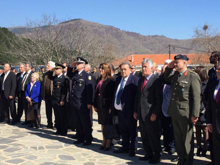 Η Μαρία Αντωνίου στις εκδηλώσεις μνήμης στην Κλεισούρα (φωτογραφίες)
