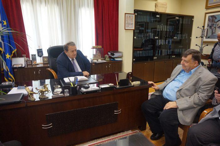 Επίσκεψη του Γιώργου Καρατζαφέρη στον Δήμαρχο Καστοριάς Ανέστη Αγγελή