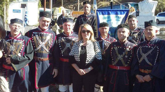 Η Ολυμπία Τελιγιορίδου στις εκδηλώσεις τιμής και μνήμης του Μακεδονομάχου, Παύλου Μελά.